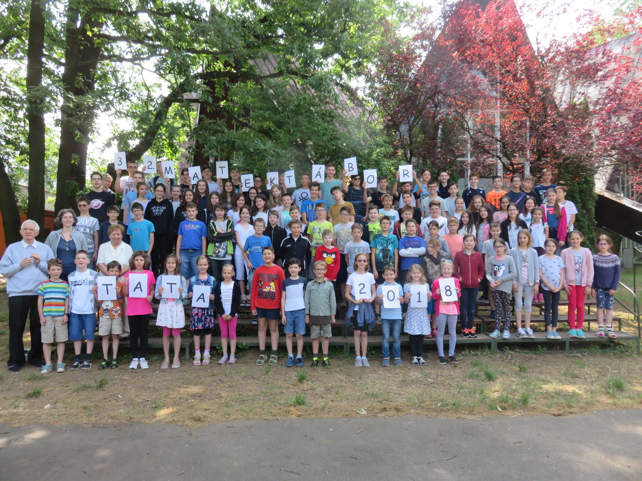 Csoportkép a tatai tábor résztvevőiről