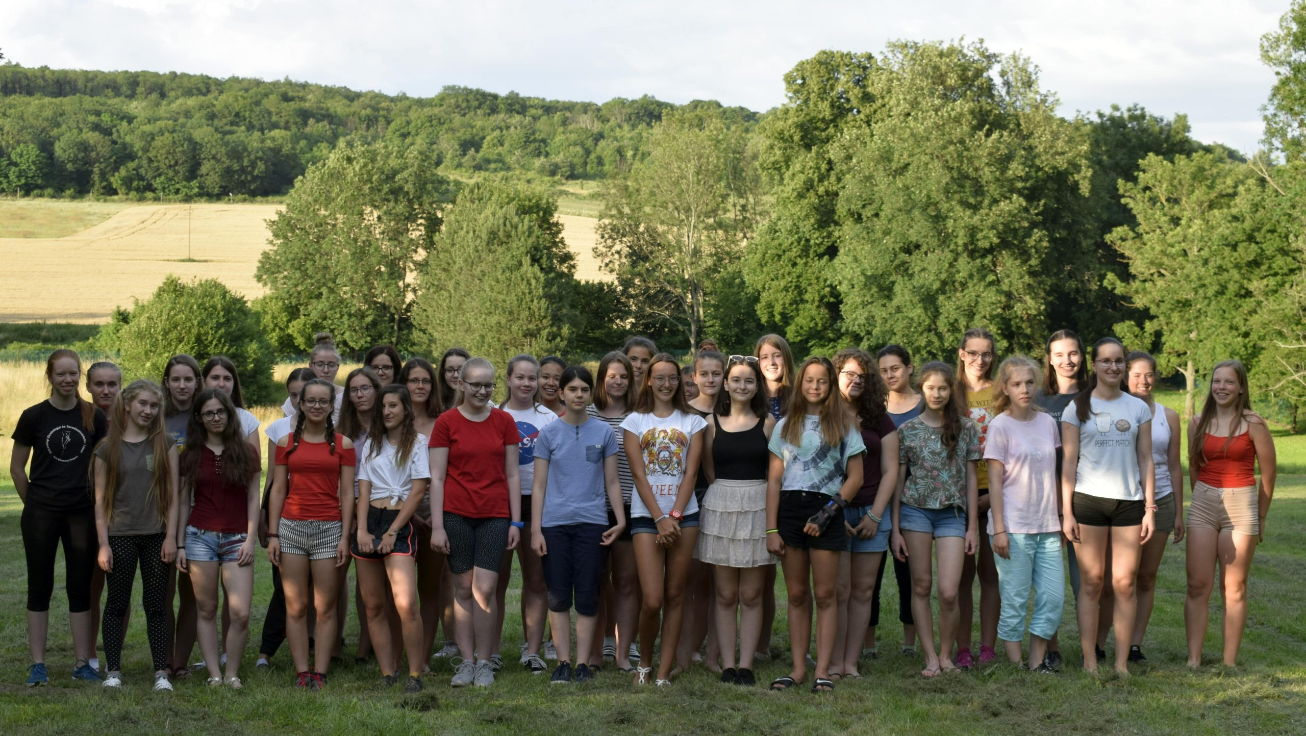 Csoportkép a nyári táborban